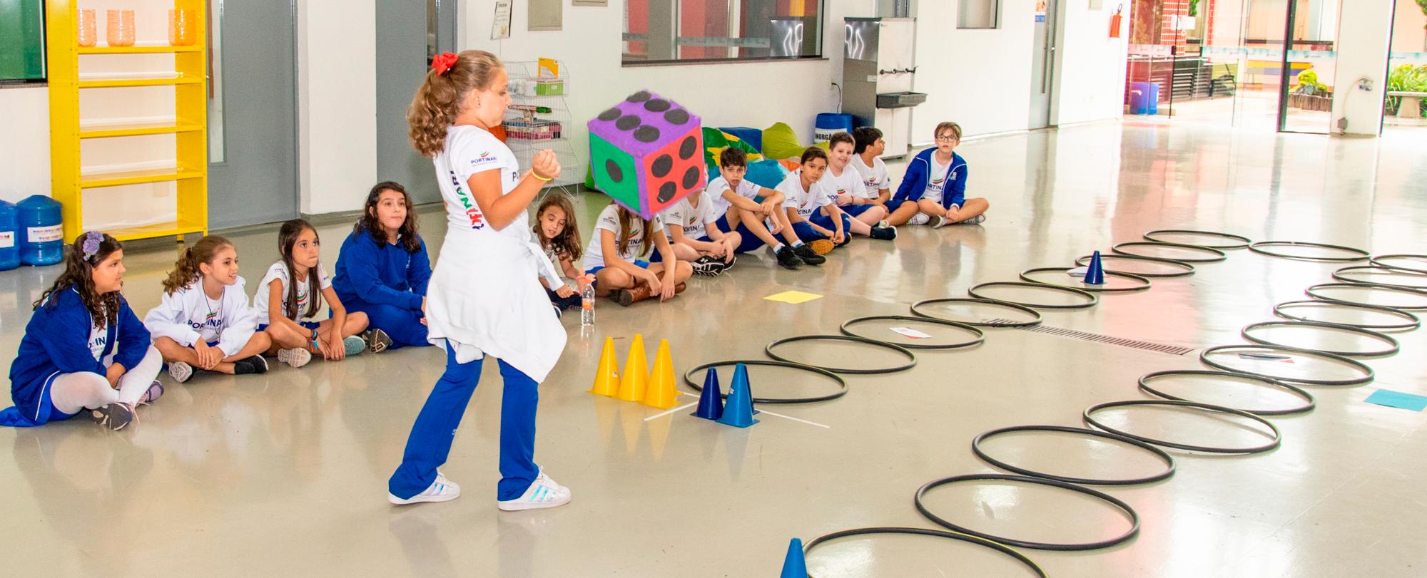 Alunos incorporam jogo de tabuleiro para atividade de Educação Física