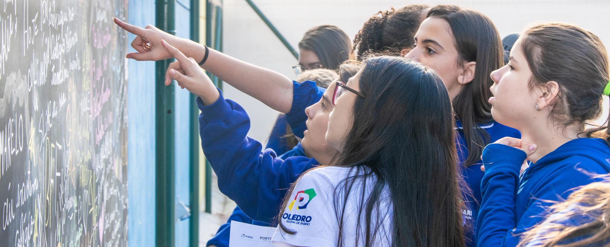 Chutômetro da XVIII GECAP agita os alunos do Portinari
