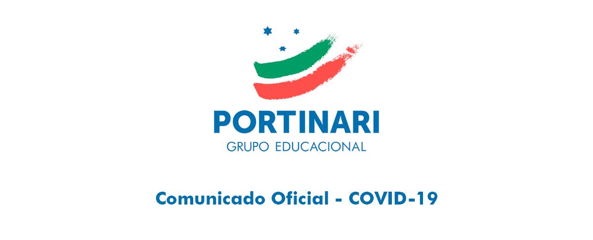 Comunicado Oficial sobre a suspensão das aulas e atividades